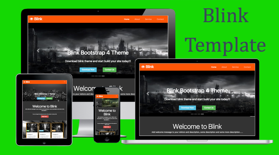 Blink Bootstrap 4 Template