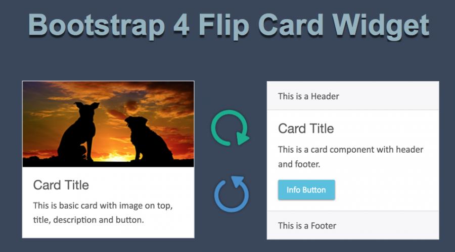 Bootstrap 4 Flip Card Widget » WebNots