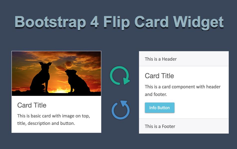 Bootstrap 4 Flip Card Widget