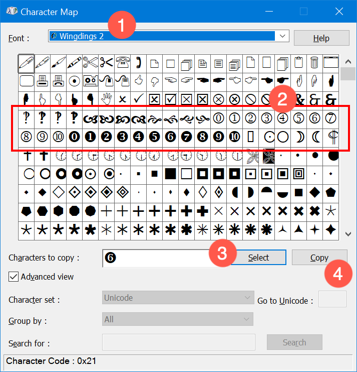 Alt Code Keyboard Shortcuts for Encircled Numbers » WebNots