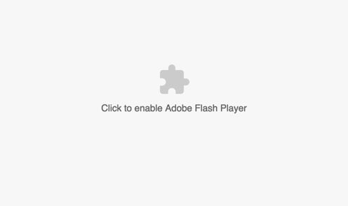 Click to Enable Flash in Chrome