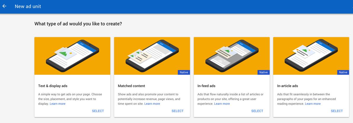 Create AdSense Native Ads