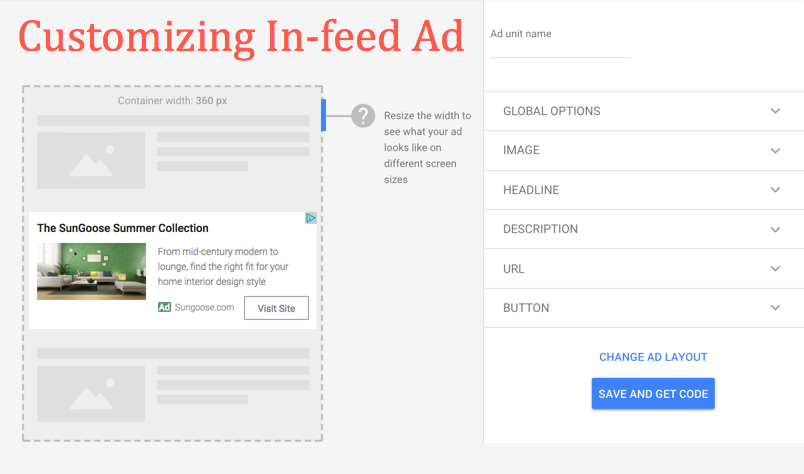 Customizing In-feed Ads