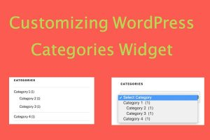 Customizing WordPress Categories Widget
