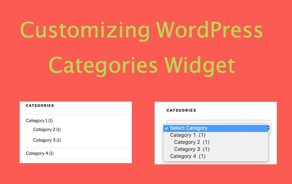 How to Customize WordPress Categories Widget?