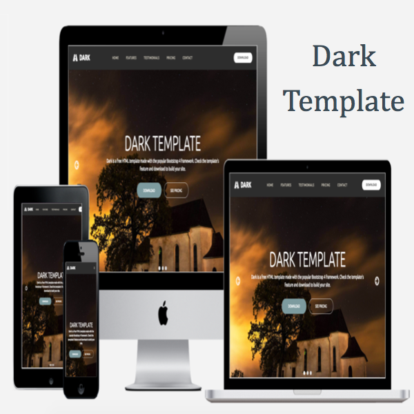 Dark Bootstrap 4 Template