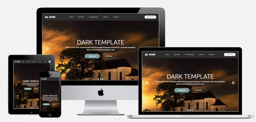 Dark Bootstrap Template