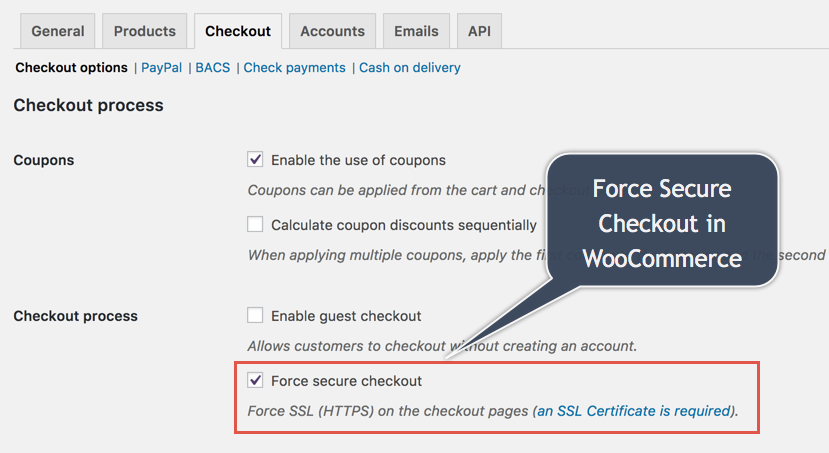 Force Secure Checkout in WooCommerce