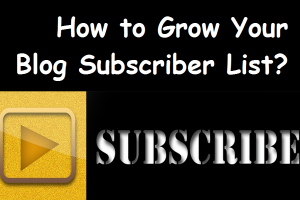 How to Grow Your Blog Subscriber List