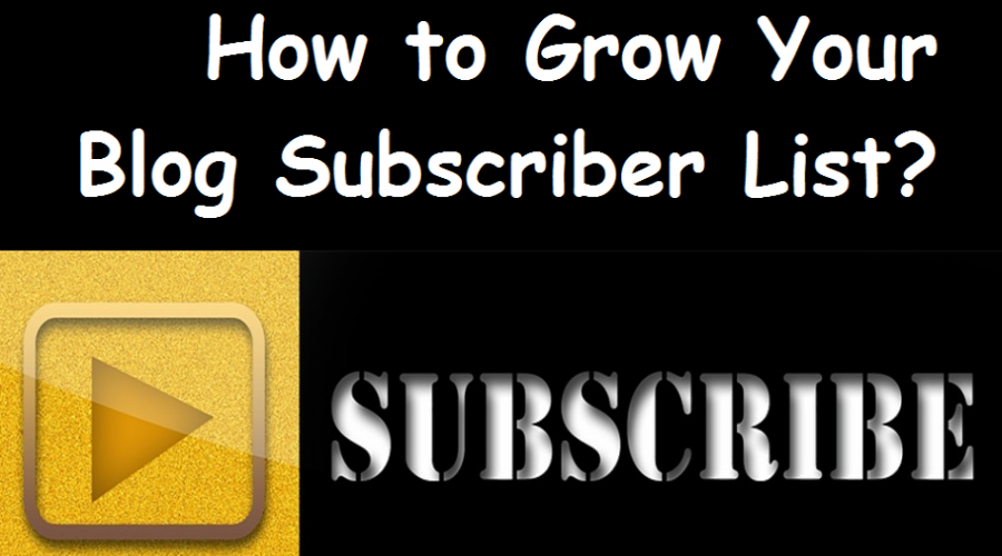 How To Grow Your Blog Subscriber List?