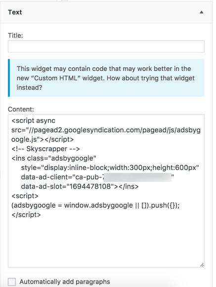 how to change widget text in wordpress