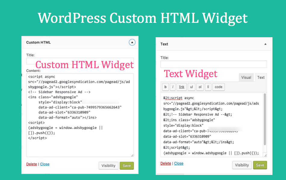 When and How to Use WordPress Custom HTML Widget?