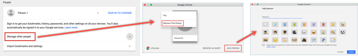 Add New User Profile in Chrome