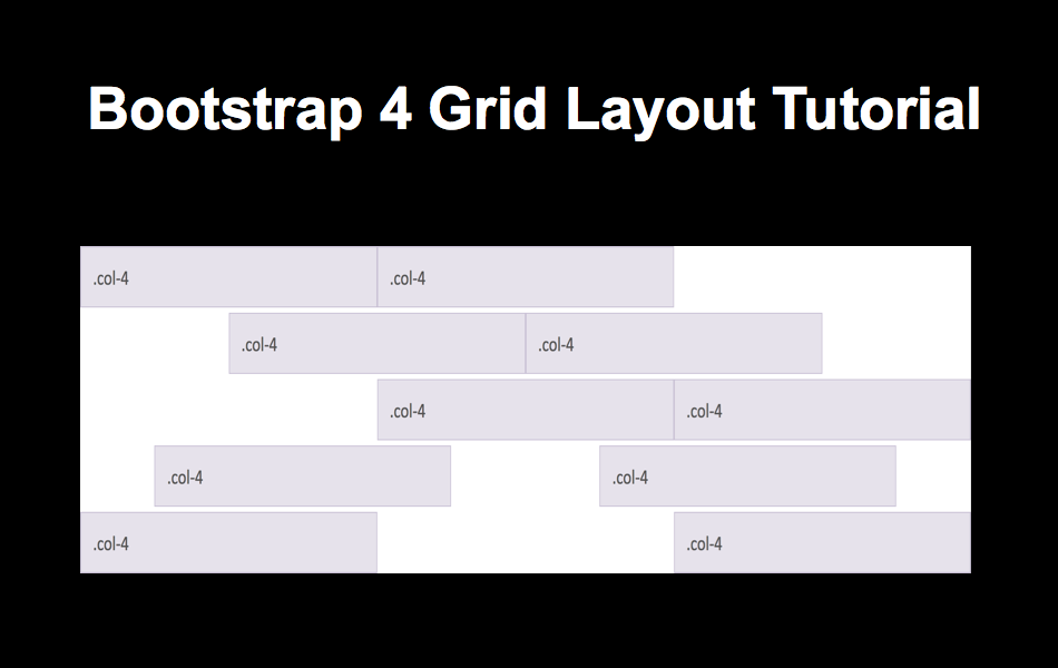 Bootstrap 4 Grid Layout Tutorial