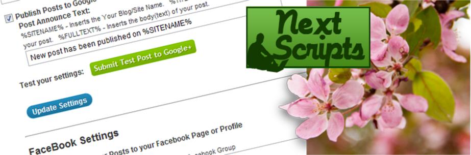 NextScripts Social Networks Auto-Poster