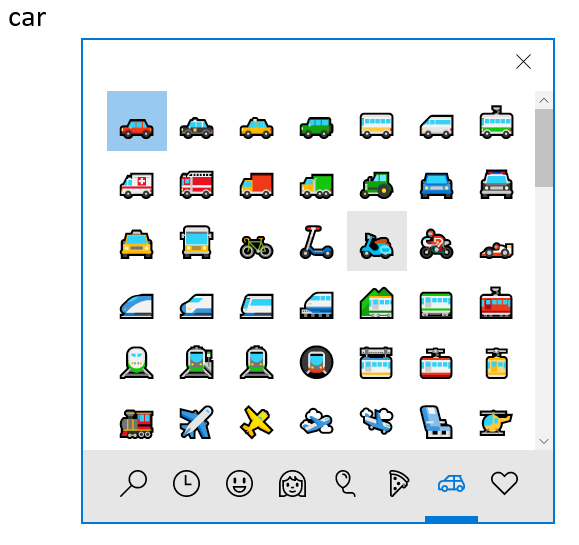 Transport Emoji Symbols