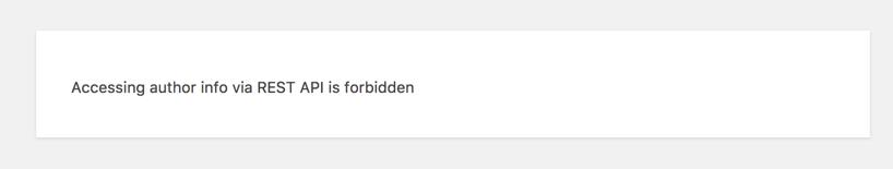 URL Forbidden Due to Security Plugin
