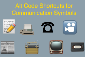 Alt Code Shortcuts for Communication Symbols