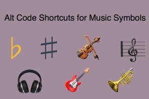 Alt Code Shortcuts for Music Symbols