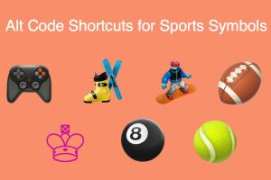 Alt Code Shortcuts for Sports Symbols