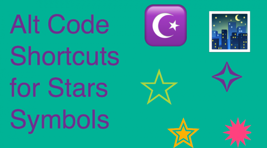 Alt Code Shortcuts for Stars Symbols