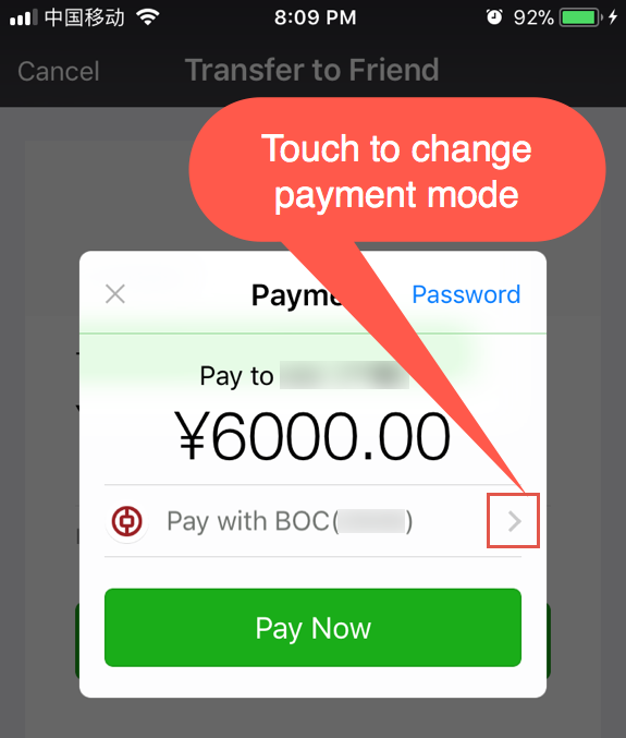 Change Payment Mode