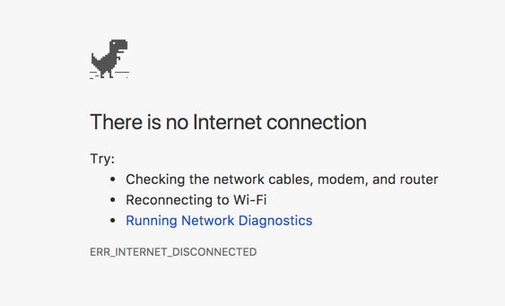 Chrome ERR_INTERNET_DISCONNECTED Error