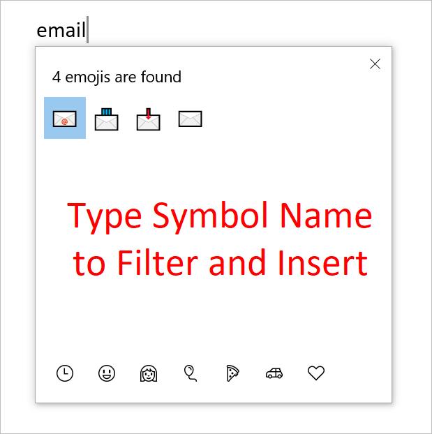Insert Communication Emoji Symbols in Windows