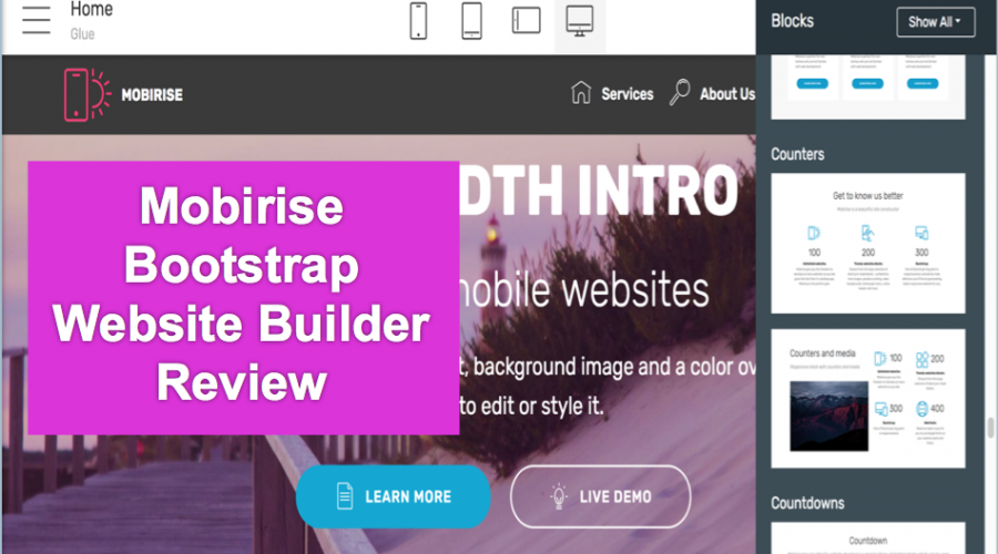 Mobirise Bootstrap Website Builder Review