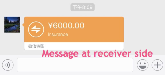 Money Transfer Message at Receiver Side