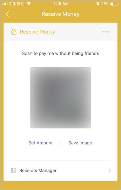 Receive Money QR Code