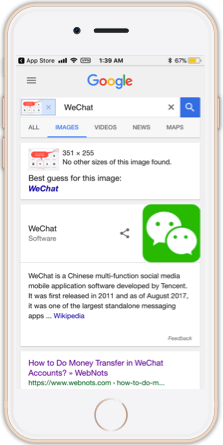 Reverse Image Search Results in Mobile
