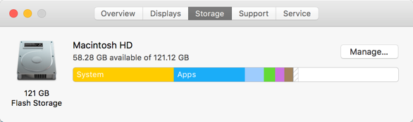 Viewing Storage in Mac