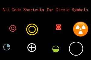 Alt Code Shortcuts for Circle Symbols