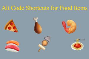 Alt Code Shortcuts for Food Items