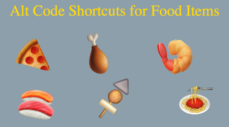 Alt Code Shortcuts for Food Items
