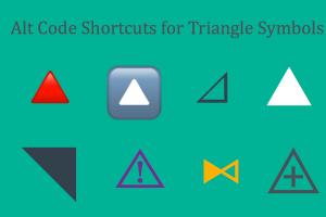 Alt Code Shortcuts for Triangle Symbols