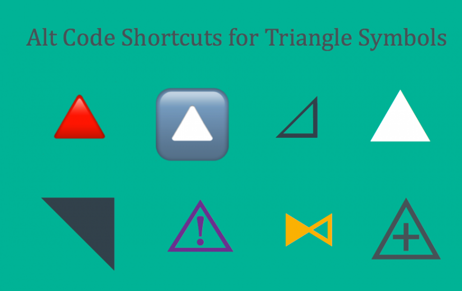 Alt Code Shortcuts for Triangle Symbols