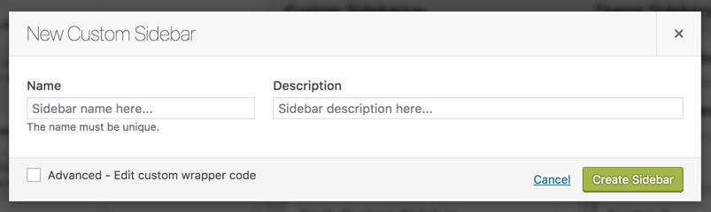 Give Name and Description to Custom Sidebar