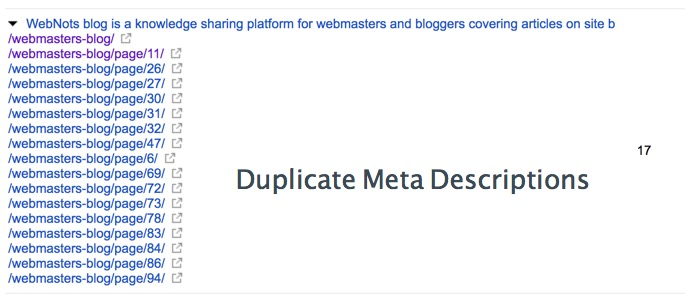 Meta Description Duplication Issue in Google Search Console