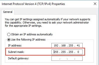 Assign Subnet Mask IP