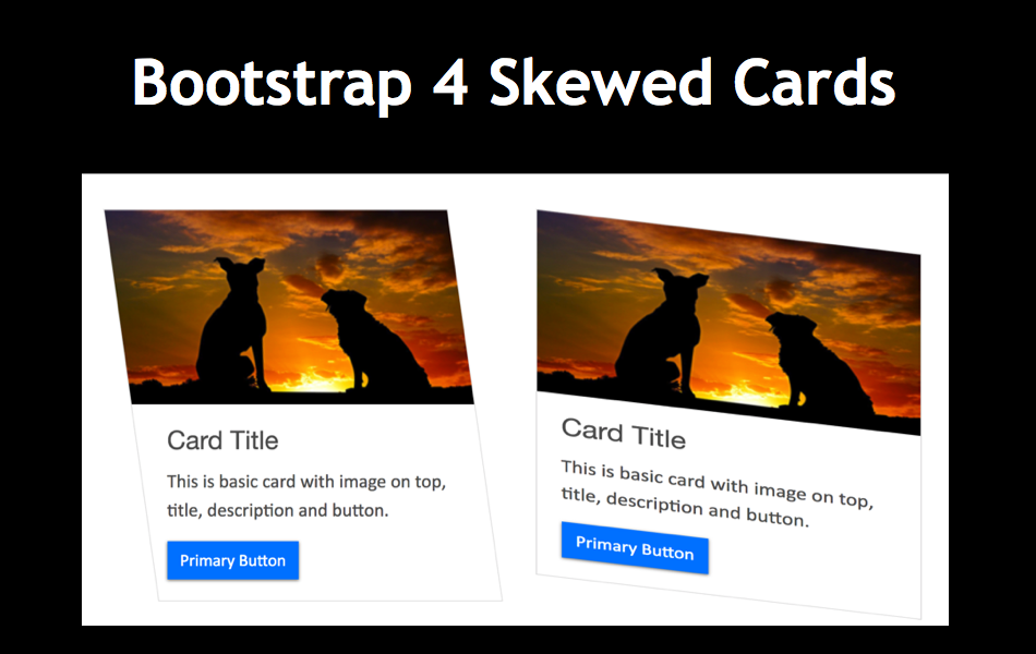 Create Custom Bootstrap 4 Skewed Cards