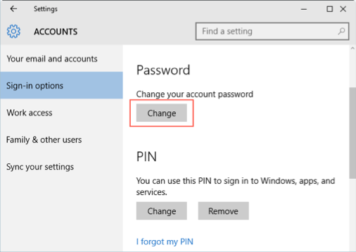 Change Login Password