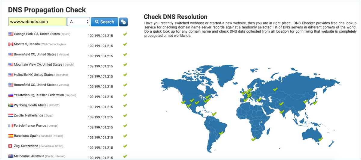 DNS Propagation Check