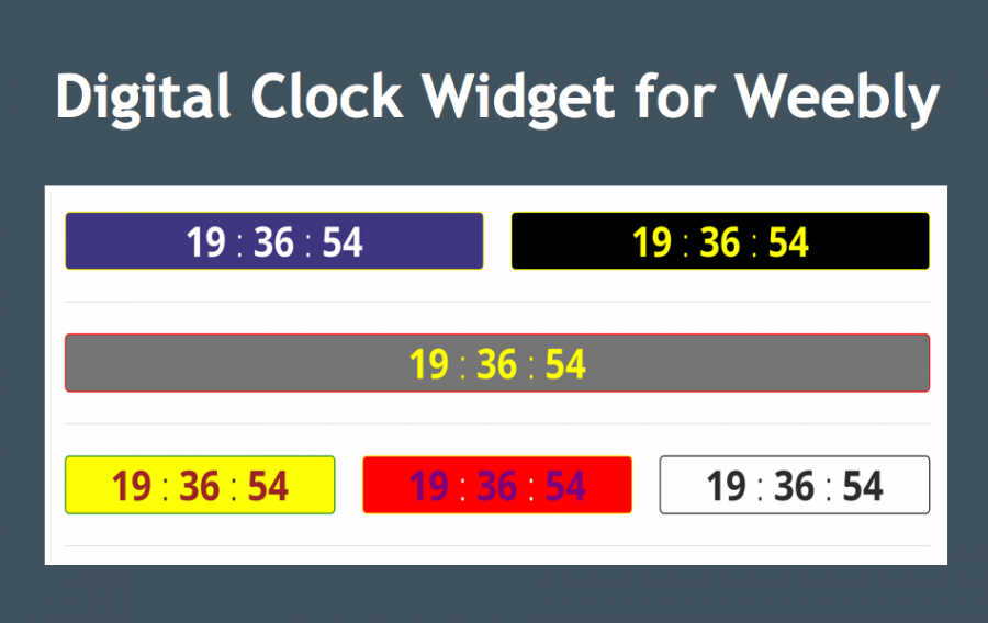 Digital Clock Widget for Weebly