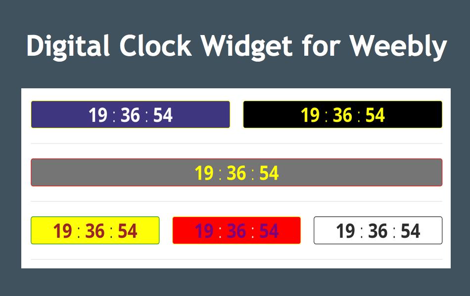 Digital Clock Widget for Weebly