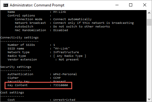 Finding Wi-Fi Password from Command Prompt