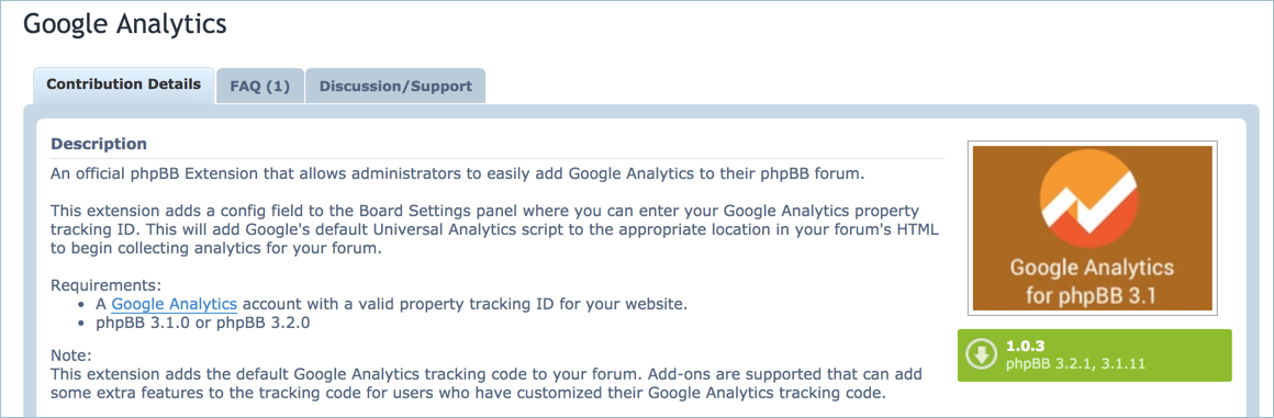 Google Analytics Extension for phpBB