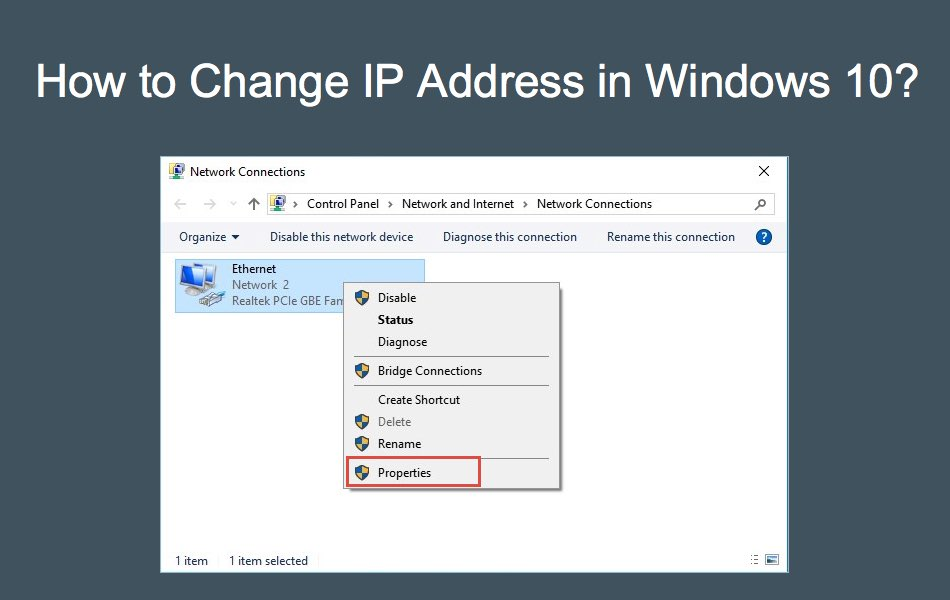 How to Change IP Address in Windows 10?