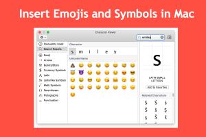 Insert Emojis and Symbols in Mac